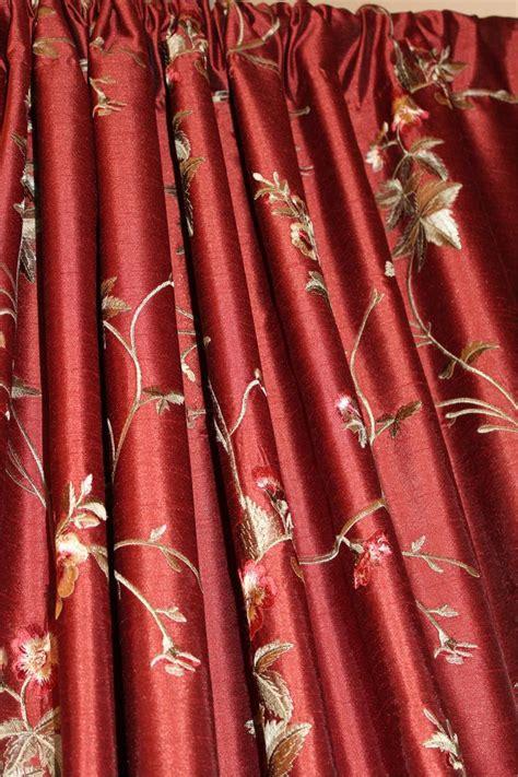ready made drapery faux silk dupioni brick