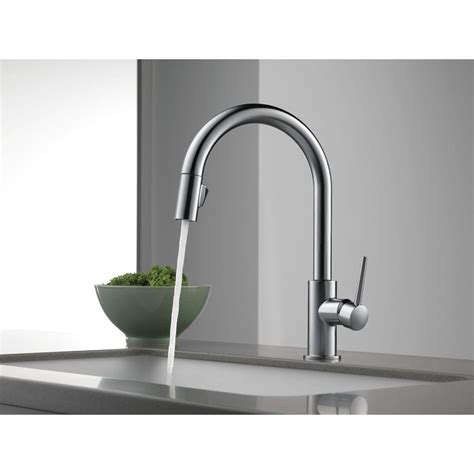 waterhouse delta stainless steel trinsic single handle pull kitchen faucet