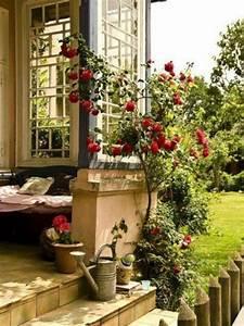 schoner garten und toller balkon gestalten ideen und With französischer balkon mit natur rattanmöbel garten