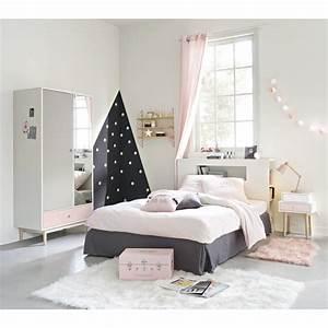 Parure De Lit Rose Et Gris : parure de lit en coton gris et rose 140x200 joy maisons du monde ~ Melissatoandfro.com Idées de Décoration