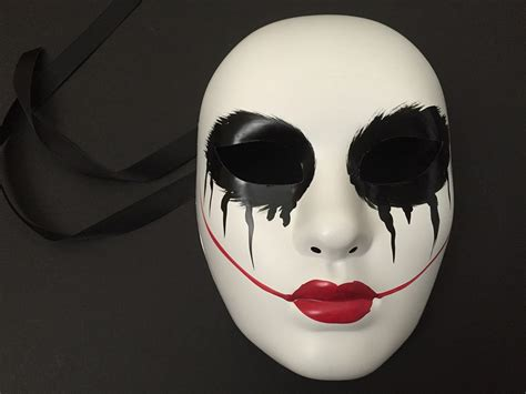 Purge Halloween Mask Couple by The Purge Anarchy Horror Mask Themed Red Lips Womens