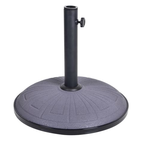 15kg grey concrete garden parasol base umbrella stand
