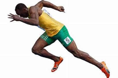 Bolt Usain Clipart Transparent Lightning Pose Illustration
