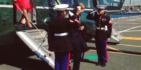 president obama criticized  latte salute