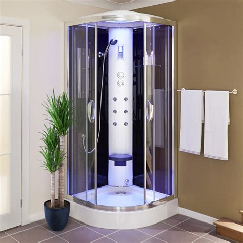 quadrant steam shower cabin   body jets