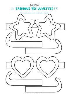 hat glasses mustaches worksheet  coloring buscar