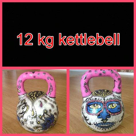 kettlebell painted custom kettlebells creativity annie fitness crossfit