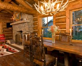 pictures of log home interiors beautiful log cabin dining rooms