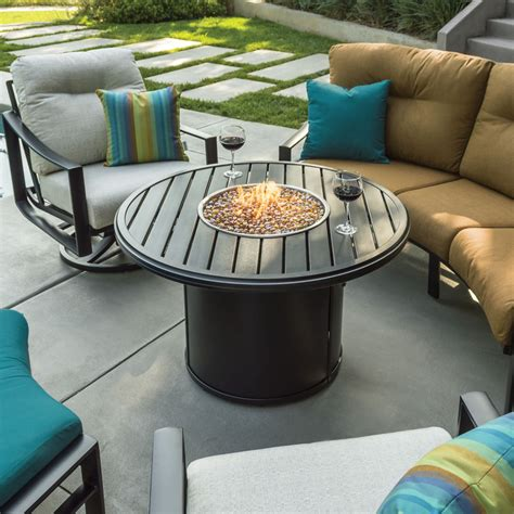 """1 fire pit riser assembly instructions congratulations on the purchase of your tropitone® fire pit riser. Tropitone Banchetto 54"""" Round Fire Pit Dining Table - 28 ..."""
