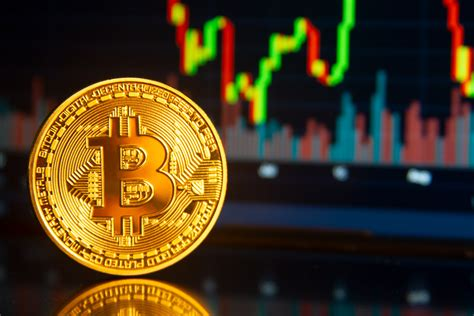 The crypto market has been hot. Bitcoin reflection front of stock price chart free image ...