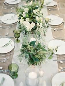 balkon dekoration frische ideen für tischdeko in grün und weiß