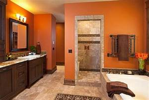 Salle De Bain Orange : peinture salle de bain 2016 2017 77 photos qui vont vous faire craquer ~ Preciouscoupons.com Idées de Décoration