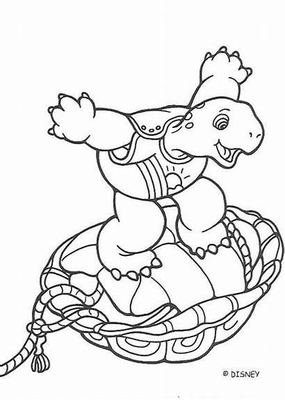 Franklin Crazy Coloring Pages Turtle Cartoon Hellokids