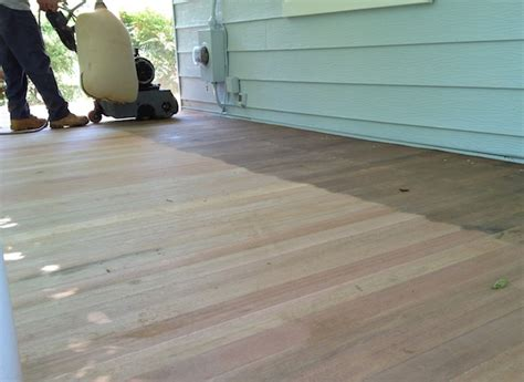 front porch part      sand  stain