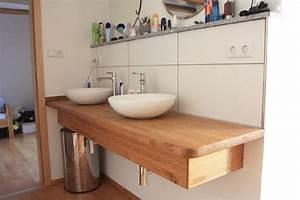 Waschtisch Aus Holz : holz waschtisch mit aufsatzwaschbecken rund die neuesten ~ Michelbontemps.com Haus und Dekorationen