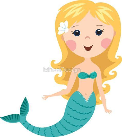 cute blond cartoon mermaid stickers stickers