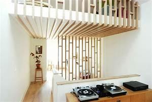 optez pour une decoration contemporaine avec le claustra With salle de bain design avec paravent bois flotté décoration