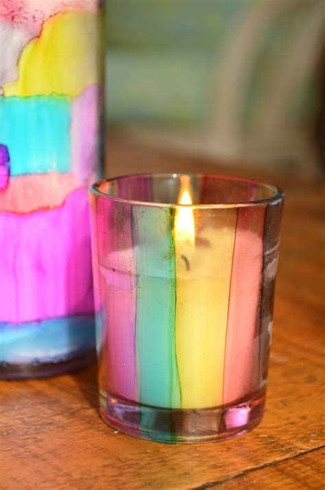 stained glass candle holders easter mad  crafts