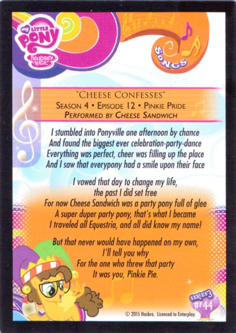 mlp cheese confesses trading cards mlp merch