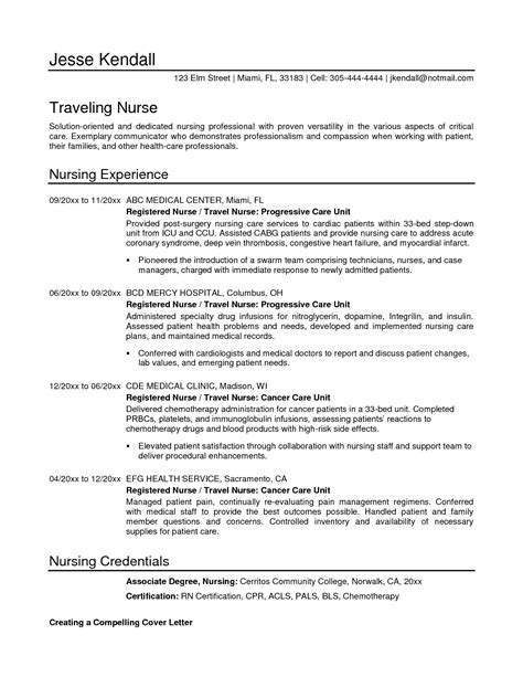 sle resume format for nurses nursing student resumes