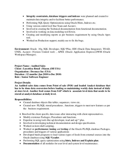 Sql Server Production Support Resume by Resume