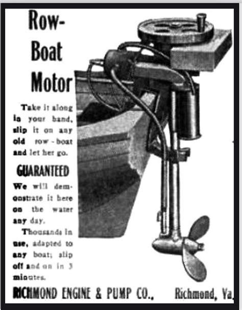 Row Boat Engine by Richmond Row Boat Motor Craib S Rowboat Motor