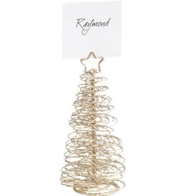 Gold Tree Place Card Holder
