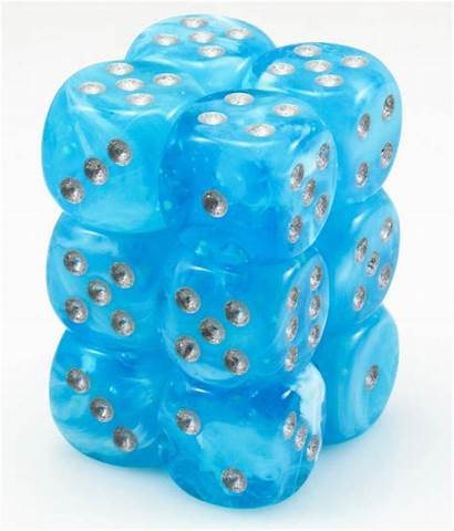 Dice Sky Glow Luminary Dark D6 Elf