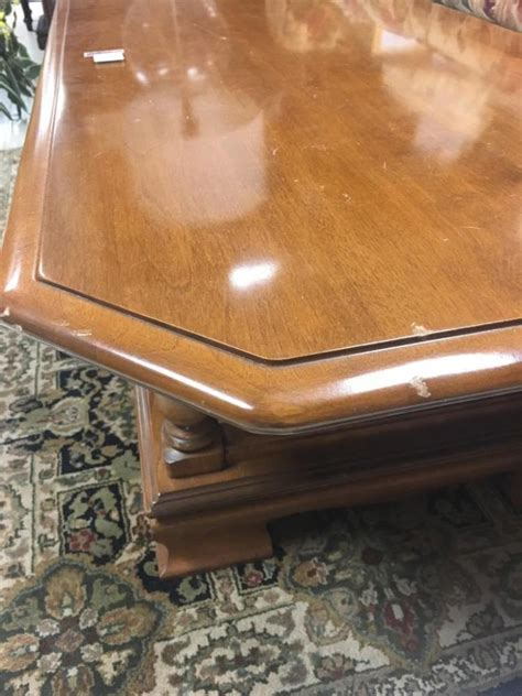 Vintage Maple Long Ethan Allen Coffee Table In Good Cond