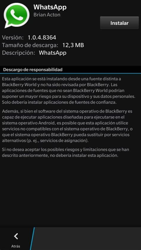 importar conversaciones whatsapp de android a bb10 blackberry