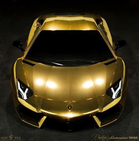 "Gold Wrapped Lamborghini Aventador Lp7004 ""project Au79"