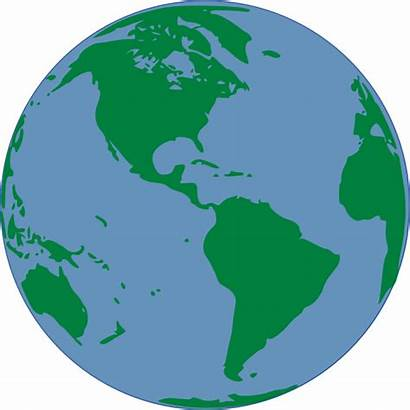 Clip Clipart Map Earth Global Clker Outline