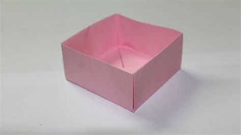 Comment Fabriquer Une Boite Comment Faire Une Boite En Papier