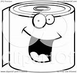 Toilet Paper Roll Clipart Coloring Happy Cartoon Smiling Pages Vector Toliet Cory Thoman Outlined Loo Clip Illustration Transparent Billboard Clipartmag sketch template