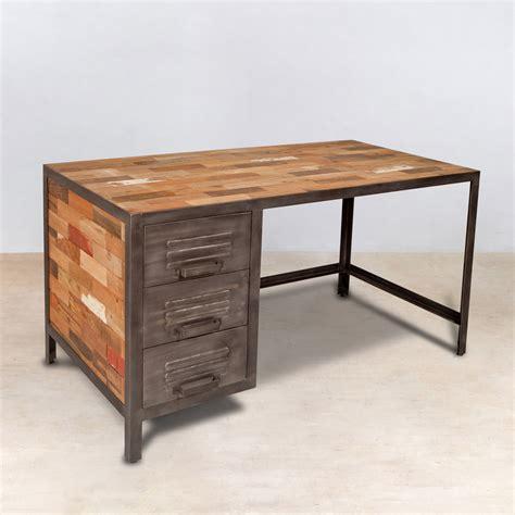 bureau bois et metal reverba com