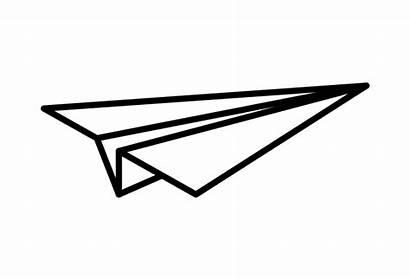 Minimal Airplane Paper Tattoo