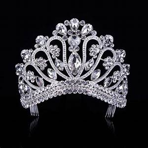 Gold Silver Crystal Rhinestone Royal Princess Wedding