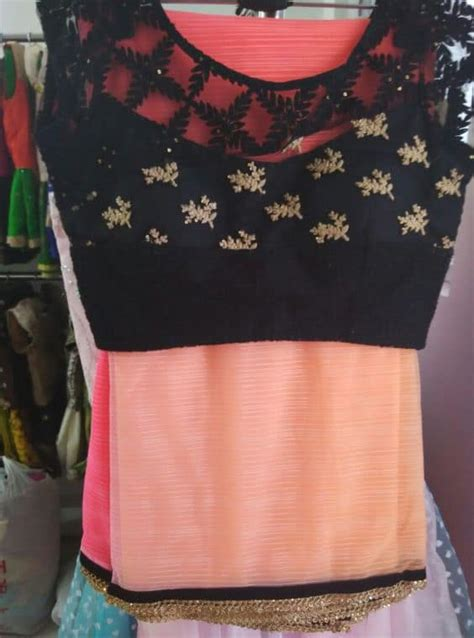 stunning saree blouse  neck designs simple craft ideas