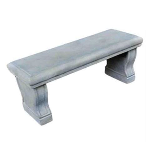 hton bay 37 in l x 14 in w cement garden bench
