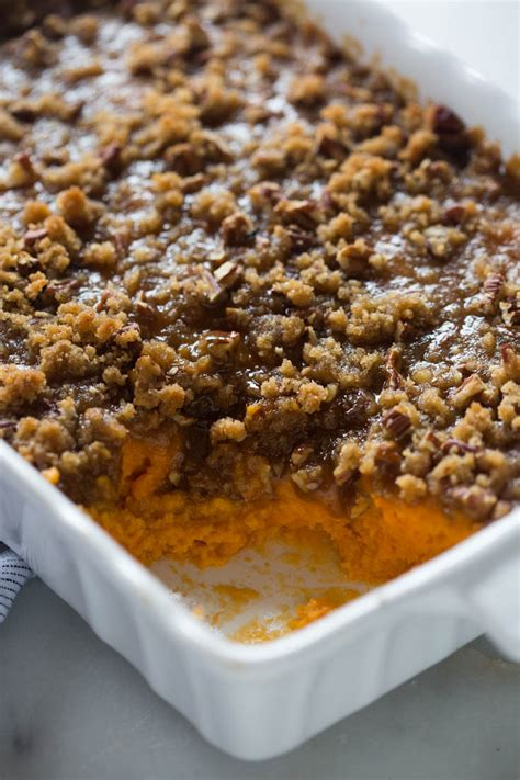 sweet potato casserole with pecan topping sweet potato souffle with pecan topping