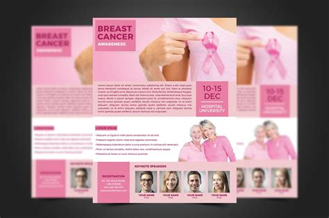 breast cancer flyer template flyer templates creative