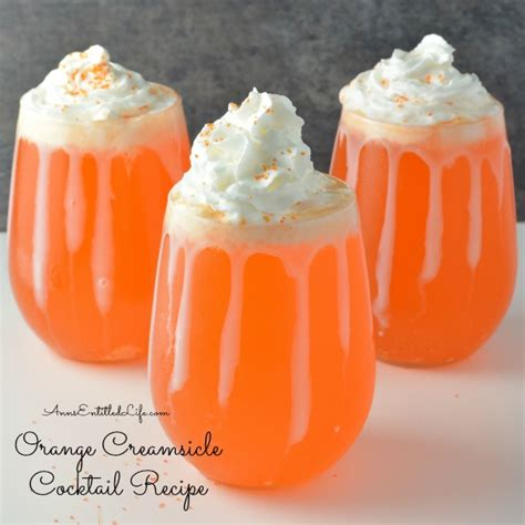 creamsicle drink orange creamsicle cocktail recipe