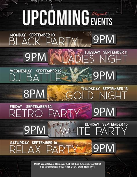 Upcoming Events - Free Flyer PSD Template | FreebieDesign