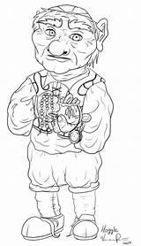 Hoggle Labyrinth Coloring Lineart Henson Jim Deviantart Template sketch template