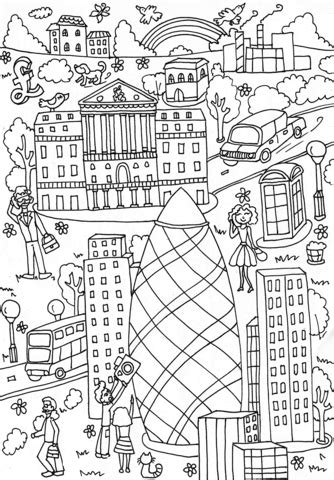 st mary axe  bank  england coloring page  printable coloring pages