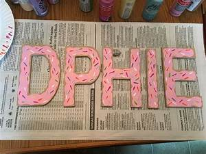donut painted sorority wood letters delta phi epsilon With sorority wood letters