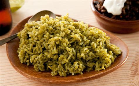 Spicy Green Rice (Arroz Verde) Recipe   Chowhound