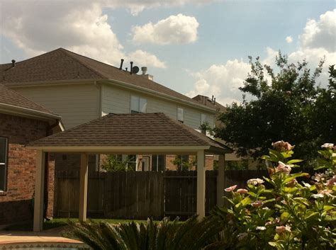 aluminum patio cover with shingles in houston tx lone