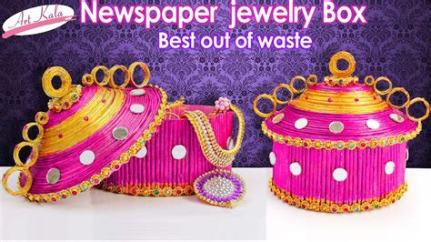How To Make Jewelry Box  Made Up Of Newspaper  Best Out