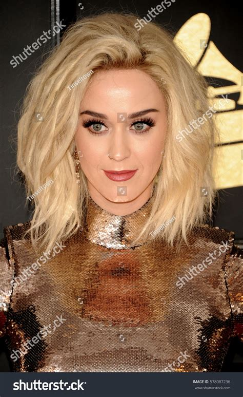 Katy Perry at the 59th GRAMMY Awards held at the Staples ...